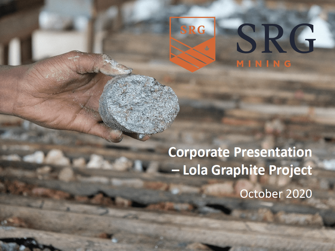 SRG Mining Corporate Presentation - October 2020